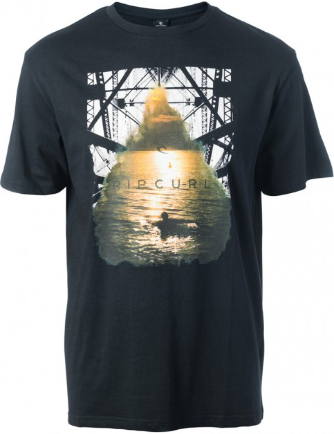 Rip Curl Good Day Bad Day Short Sleeve T-Shirt in Black/Gold