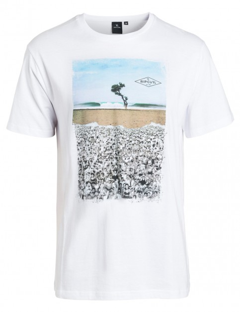 White Grey Rip Curl Good Day Bad Day Short Sleeve T-Shirt