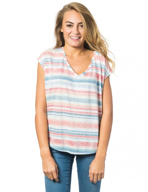 Rip Curl Gracia Short Sleeve T-Shirt in Souffle