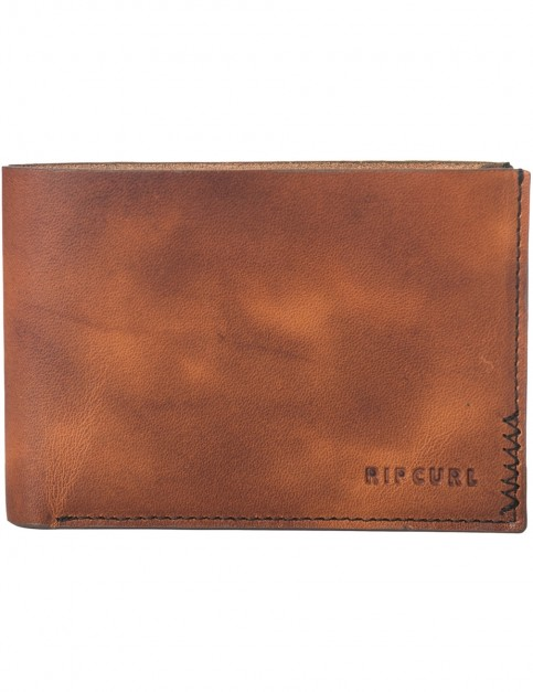 Rip Curl Handcrafted All Day Leather Wallet in Brown