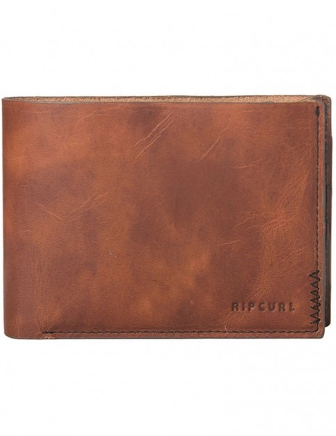 Rip Curl Handcrafted Slim Leather Wallet in Brown