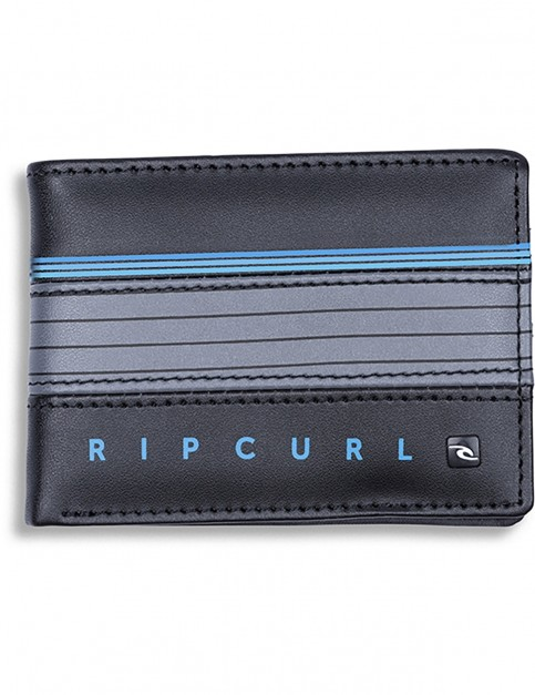 Rip Curl Hold Down Stripe Faux Leather Wallet in Blue