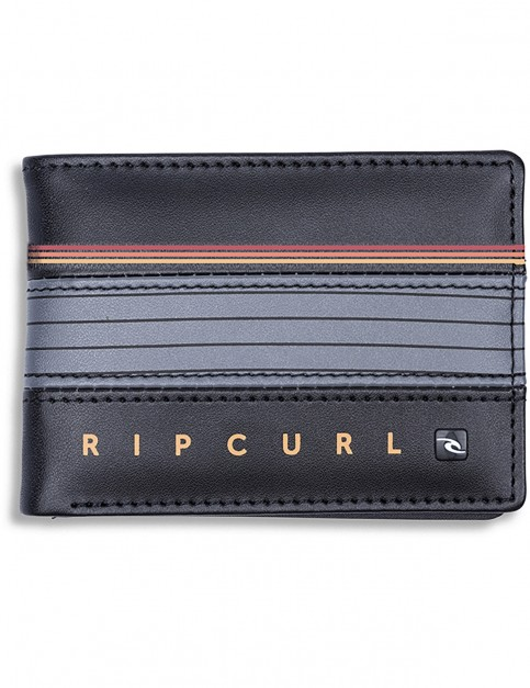 Rip Curl Hold Down Stripe Faux Leather Wallet in Orange