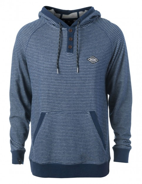 Rip Curl Hooded Stripe Zipped Hoody in Mood Indigo