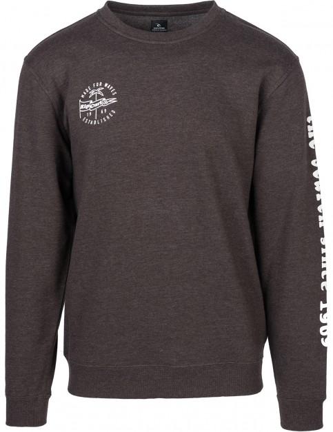 Rip Curl Iconic Crew Sweatshirt in Mole Marle