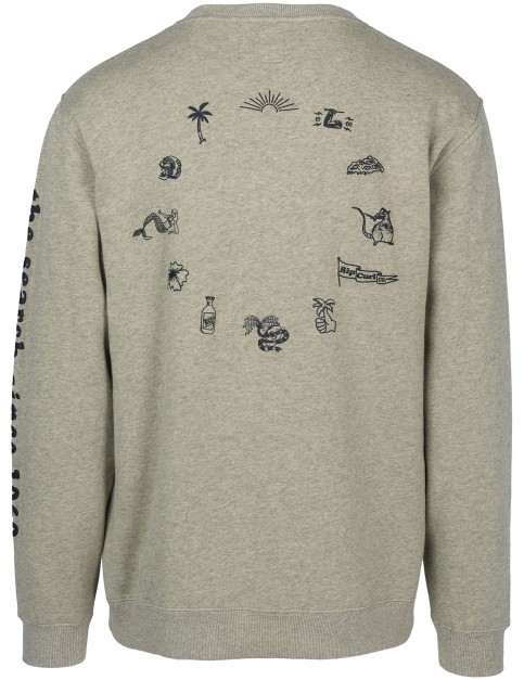 Rip Curl Iconic Crew Sweatshirt in Slate Green Mar