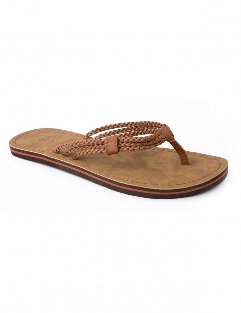 Rip Curl Ivy Flip Flops in Dark Brown