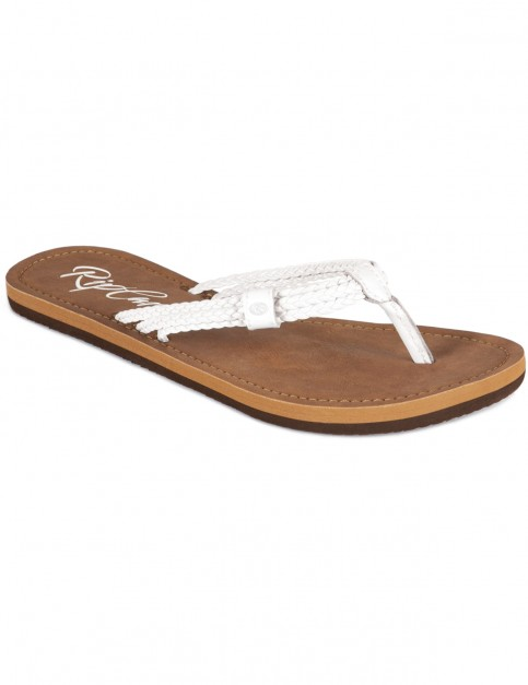 Rip Curl Ivy Flip Flops in White Brown