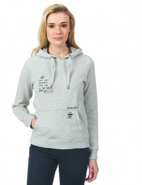 Rip Curl Junse Fleece Pullover Hoody in Cement Marl