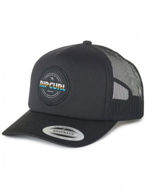 Rip Curl Labelled Trucker Cap in Black