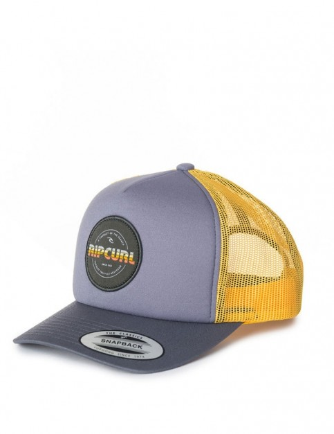 Rip Curl Labelled Trucker Cap in Flint Gray