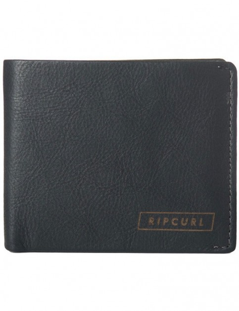 Rip Curl Laser RFID 2 In 1 Leather Wallet in Black