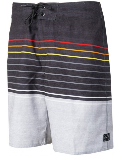 Rip Curl Line Up 19 Mid Length Boardshorts in Black/Red