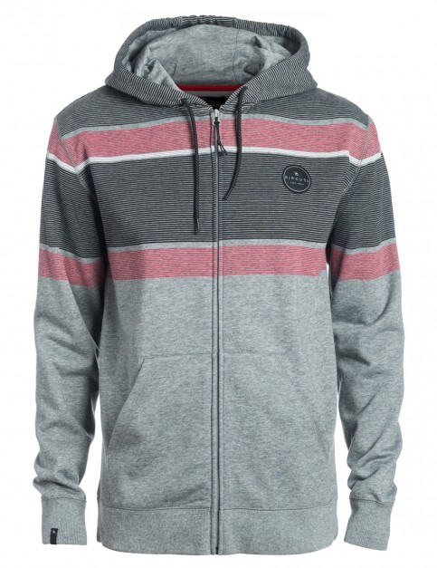 Rip Curl Lines ZT Zipped Hoody in Beton Marle