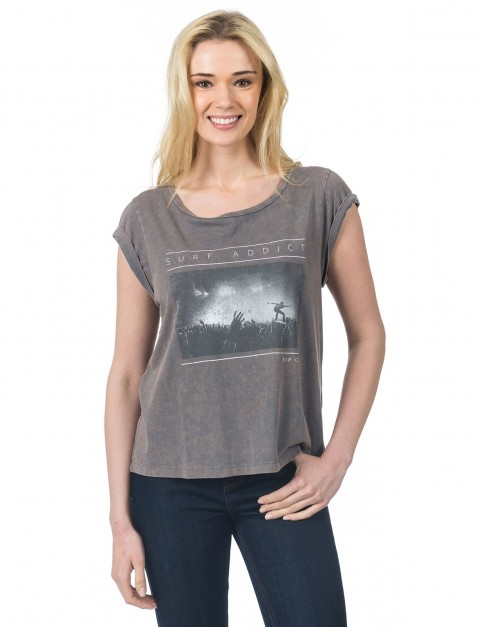 Rip Curl Logda Tee Short Sleeve T-Shirt in Granite Grey