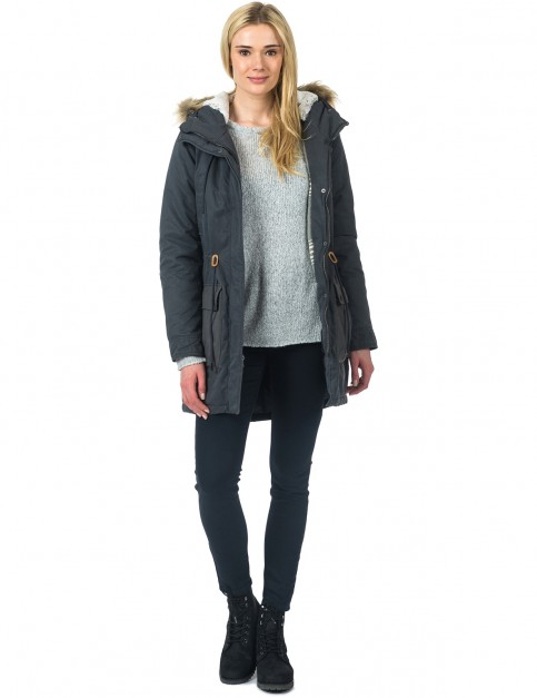 Rip Curl Lonepine Jacket Parka Jacket in Ebony