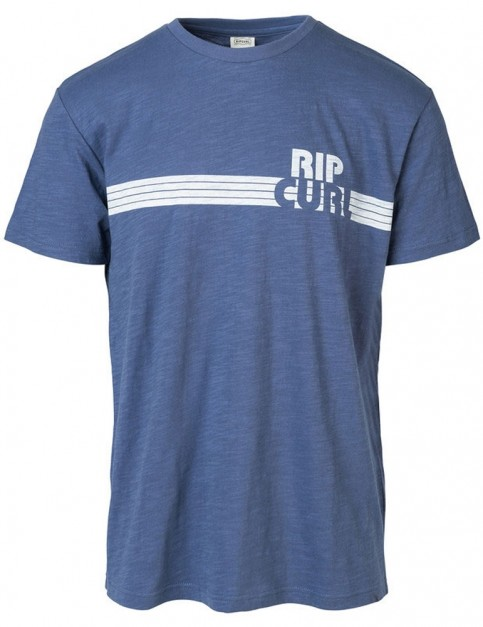Rip Curl Macao Short Sleeve T-Shirt in Blue Indigo