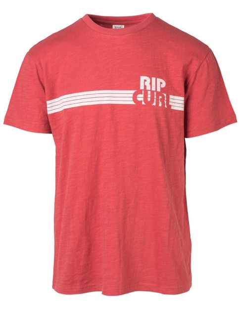 Rip Curl Macao Short Sleeve T-Shirt in Mineral Red