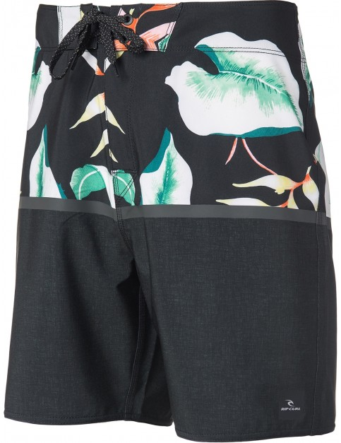 Rip Curl Mirage Black Beach 18 Mid Length Boardshorts in Black/Blue