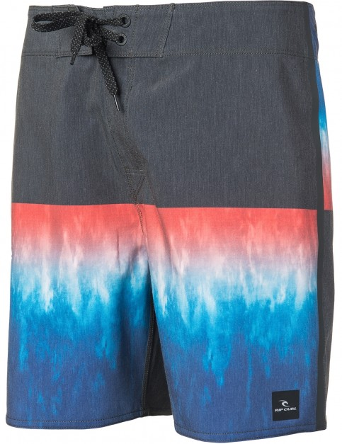 Rip Curl Mirage Wilko Blocker 18 inch Mid Length Boardshorts in Black/Blue