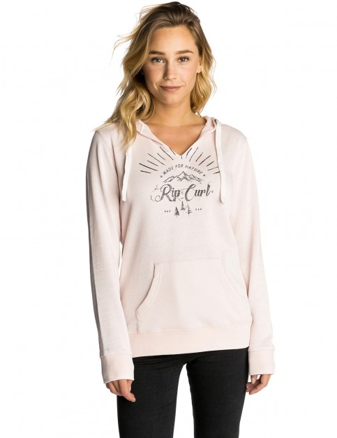 Rip Curl Nature Hooded Pullover Hoody in Crystal Pink