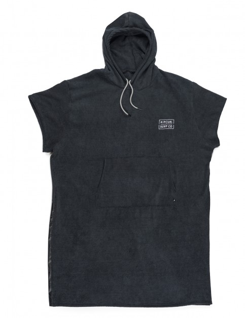 Rip Curl Newy Poncho Hooded Towel in Black
