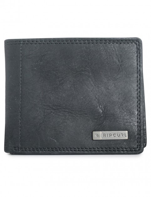 Black Rip Curl Offshore 2 In 1 Leather Wallet