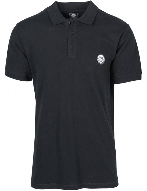 Rip Curl Original Wetty Polo Shirt in Black