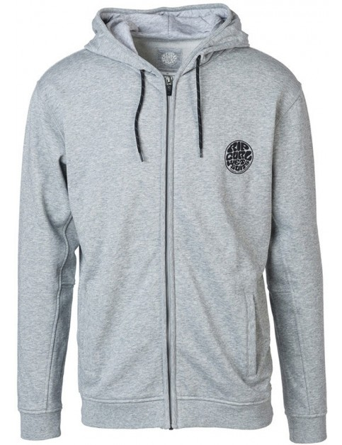 Rip Curl Original Wetty Zipped Hoody in Cement Marle