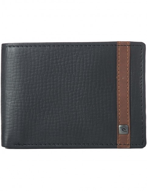 Rip Curl Overlap Clip RFID Slim Leather Wallet in Black