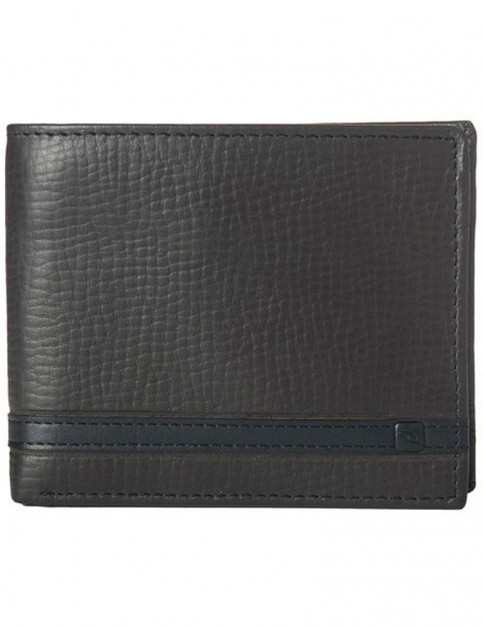 Rip Curl Overlap RFID 2 In 1 Leather Wallet in Black