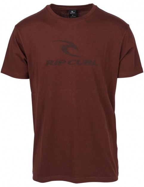 Rip Curl Peak Icon Short Sleeve T-Shirt in Red
