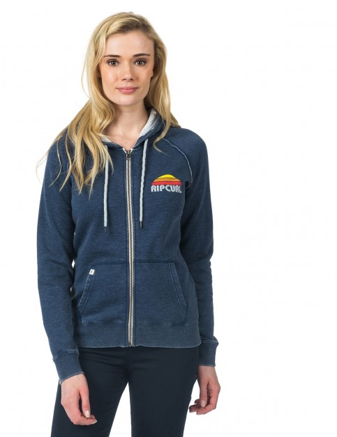Rip Curl Perry Fleece Zipped Hoody in Insignia Blue