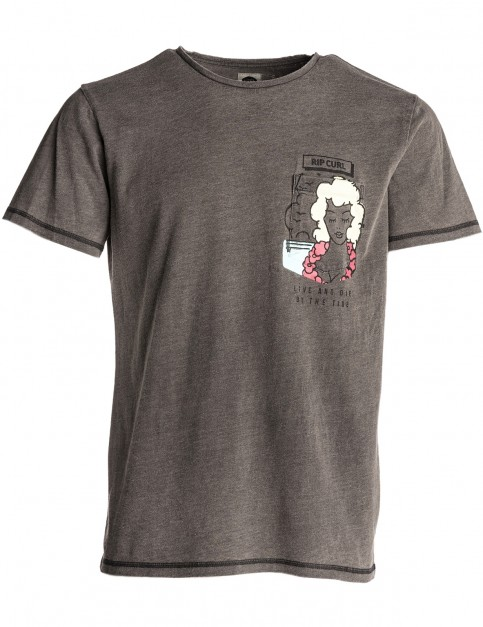 Rip Curl Pinup Live&Dye Short Sleeve T-Shirt in Phantom Middle
