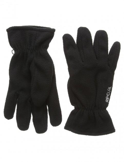 Black Rip Curl Polar Fleece Gloves