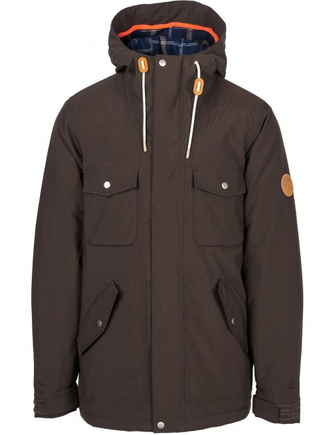 Rip Curl Puncher Anti-Series Parka Jacket in Mole