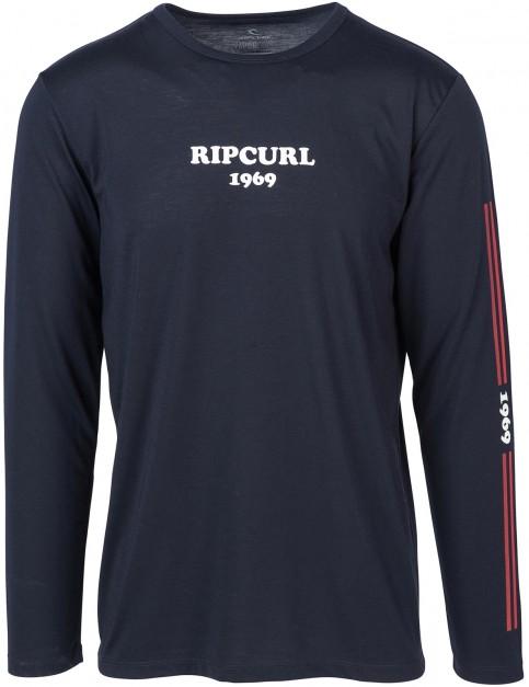 Rip Curl Racing Vaper Cool Long Sleeve T-Shirt in Night Sky
