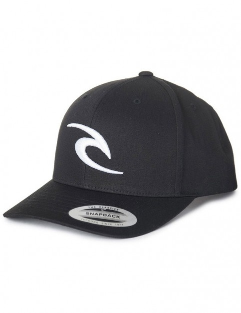 Rip Curl RC Iconic Snapback Cap in Black