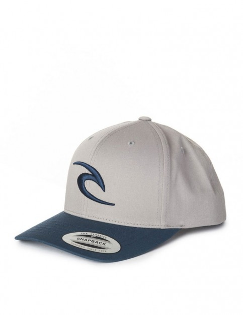 Rip Curl RC Iconic Snapback Cap in Flint Gray