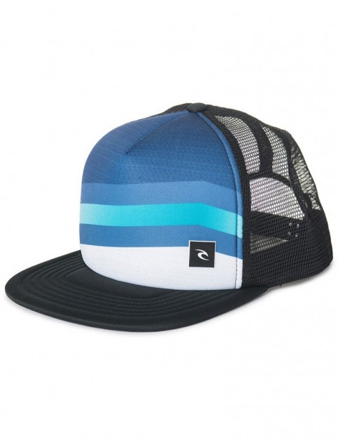Rip Curl React Trucker Cap in Blue Indigo
