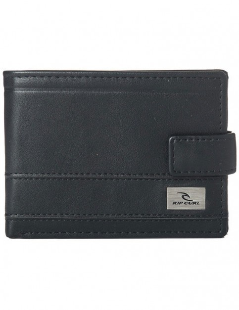 Rip Curl Reflect Clip PU All Day Faux Leather Wallet in Black