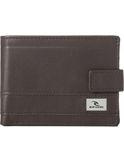 Rip Curl Reflect Clip PU All Day Faux Leather Wallet in Brown