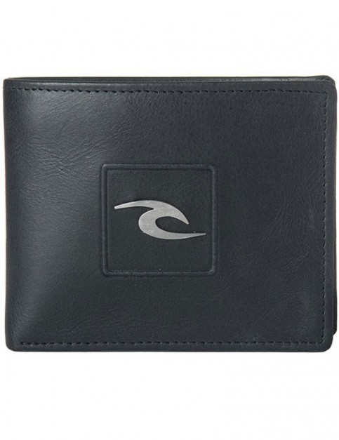 Rip Curl Rider RFID 2 In 1 Leather Wallet in Black