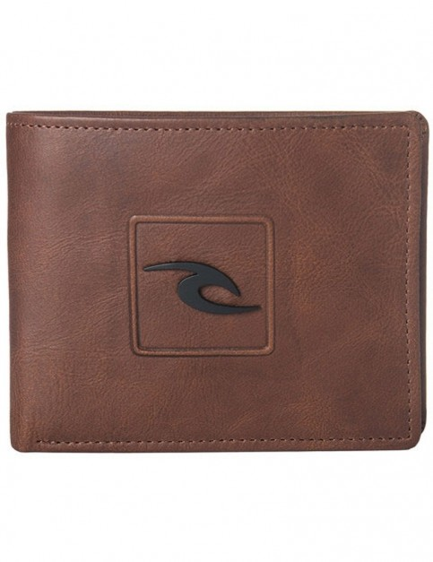 Rip Curl Rider RFID 2 In 1 Leather Wallet in Brown