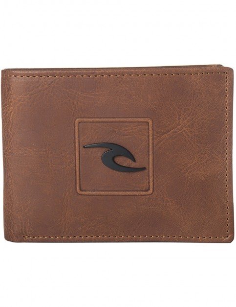 Rip Curl Rider RFID All Day Leather Wallet in Brown