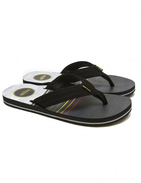 Rip Curl Ripper Flip Flops in Black / Yellow