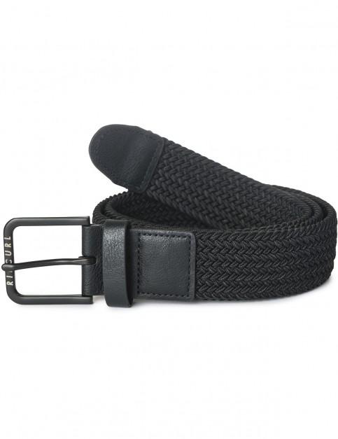 Rip Curl Ropping Webbing Belt in Black