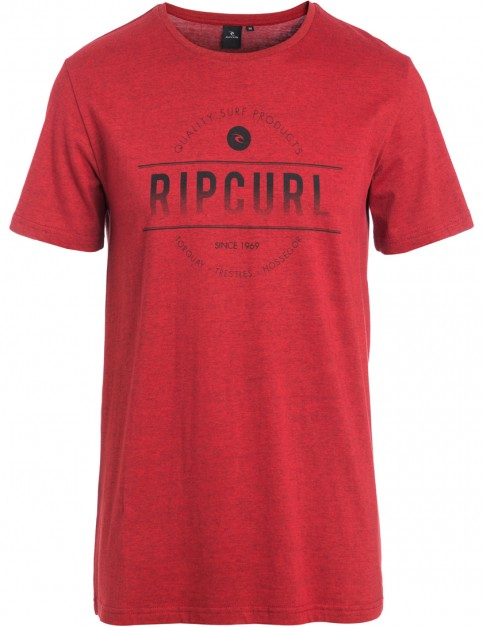 Pompeian Red Rip Curl Rounded Short Sleeve T-Shirt