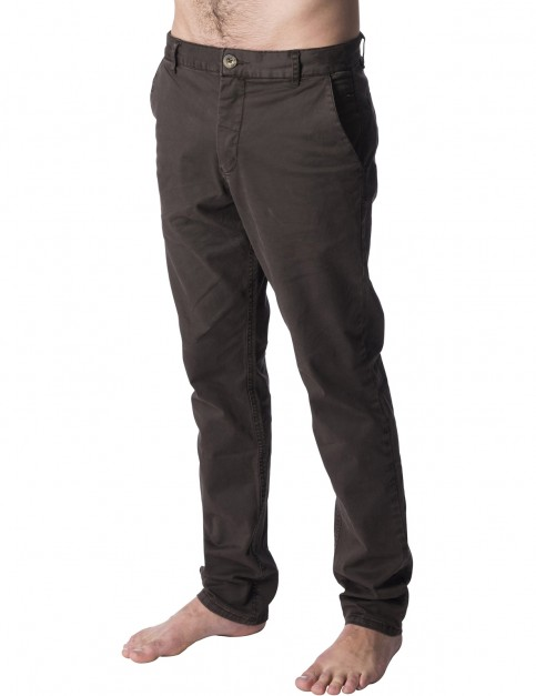 Rip Curl Savage Straight Chino Trousers in Brown