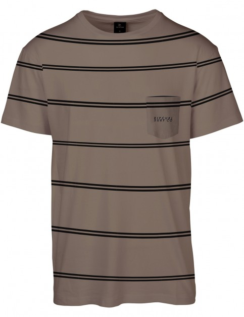 Rip Curl Scuffing Short Sleeve T-Shirt in Sepia